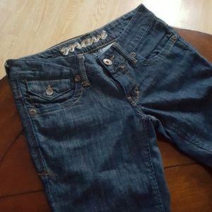 Flattering dark denim Mavi Tania custom hem size26